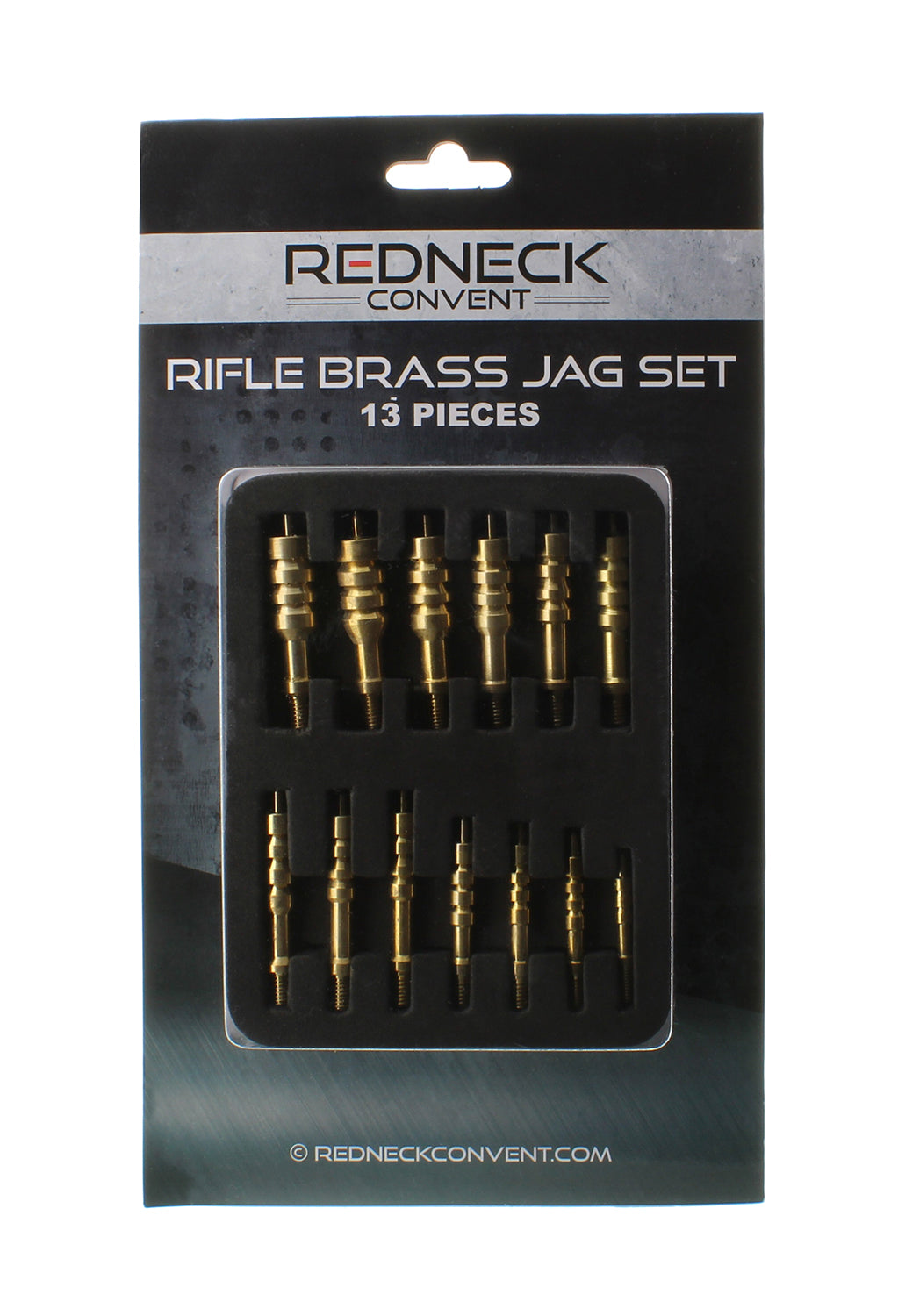 Brass Slotted Gun Cleaning Jag Set .17 to .45 Caliber 6mm to 9mm