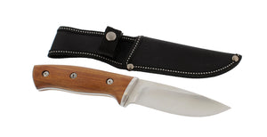 "Hunting Knife - Stainless Steel 4"" Inch Fixed Blade with Nylon Sheath"