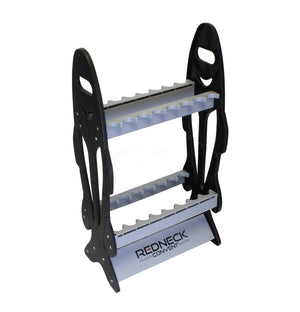 Vertical Standing 16 Fishing Pole Display Rack Storage Organizer
