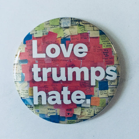 "Magnet: ""Love Trumps Hate:"" Union Square Subway Station NYC"