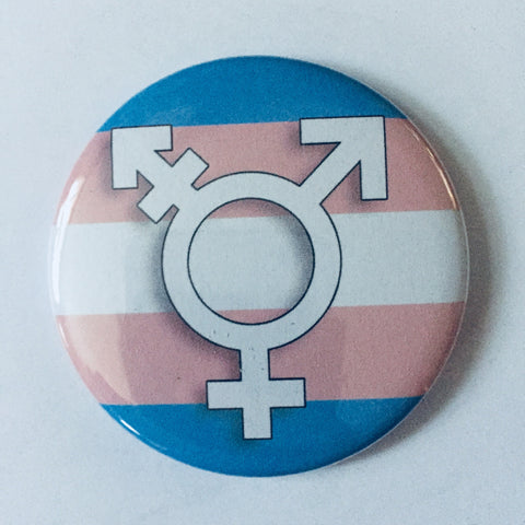 Magnet: Transgender Symbol and Transgender Flag