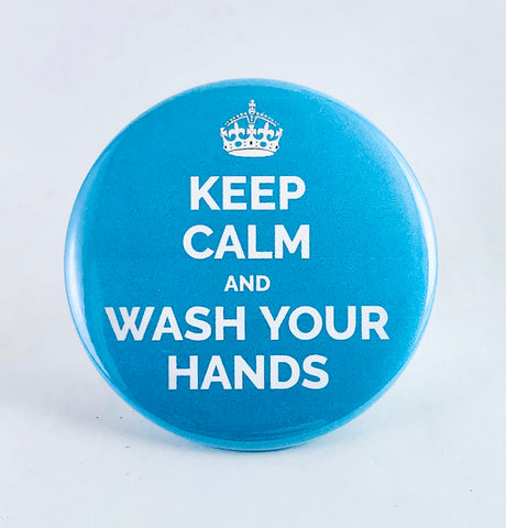 "Magnet: ""Keep Calm and Wash Your Hands"""