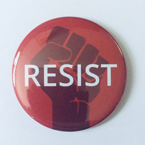 "Magnet: ""Resist:"" Fist on Red Background"