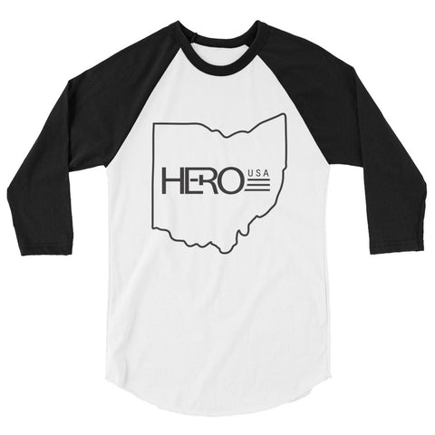 HERO-HIO 3/4 sleeve raglan shirt