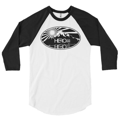 Hero USA 3/4 sleeve raglan shirt