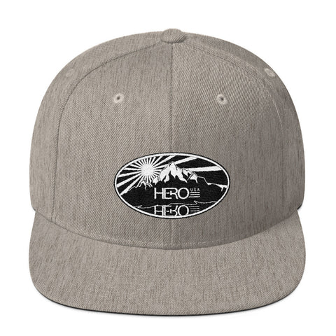 Oval Hero USA Wool Blend Snapback - HERO USA