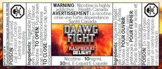 Daawg Fight Salt Raspberry Delight