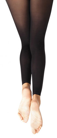 Self Knit Waistband Footless Tights