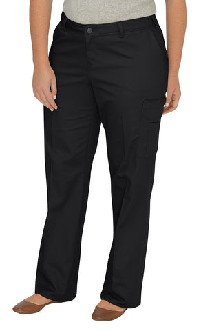 Relaxed Fit Straight Leg Cargo Pants (Plus)