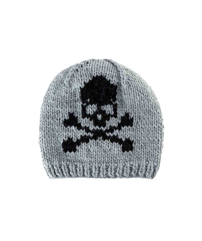 Skull Intarsia Beanie Hat by San Diego Hat Company