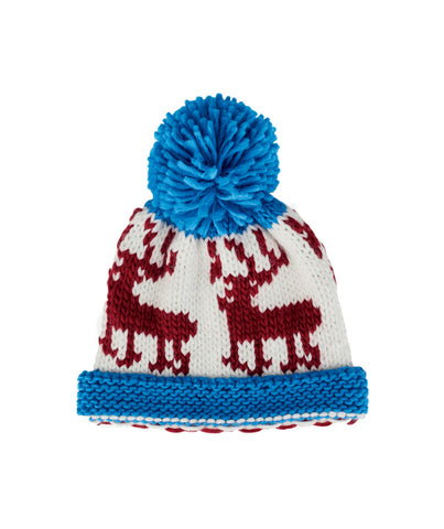Pop Color Pom Deer Beanie Hat by San Diego Hat Company