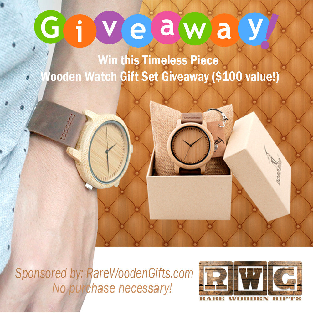 Win this Wooden Watch Set Giveaway - Perfect Gift for Your Loved Ones - No Purchase Necessary