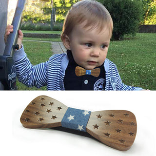 Children Wooden Bow Ties For Baby Accessories