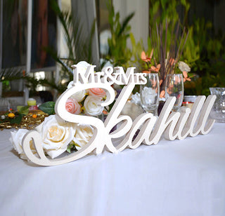 Custom Large Mr & Mrs LAST NAME Table Sign