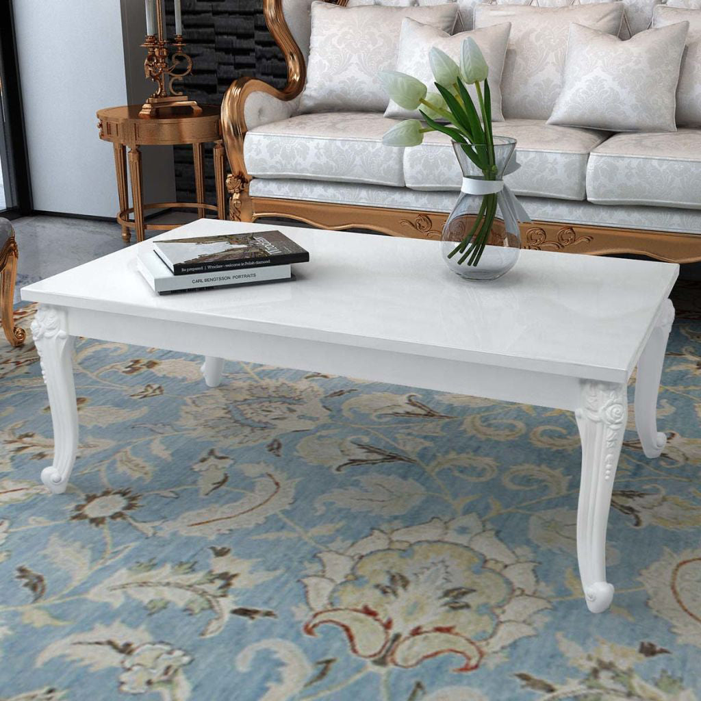 French Curved Legs Coffee Table