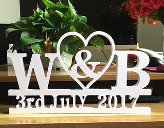 Large Wedding Date Decor Sign