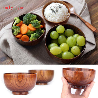Natural Jujube Wood Small Round Cup Bowls