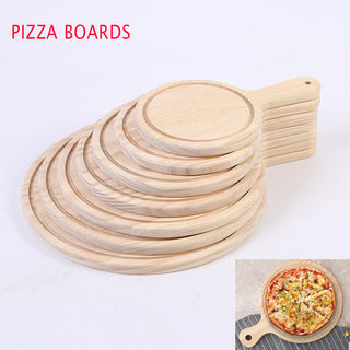 Round Wooden Pizza Pan Boards - Wood Pizza Stone