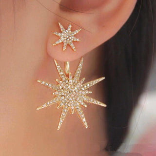 Simple Little Star Pentacle Earrings