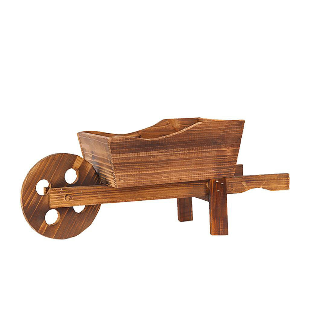 Solid Wood Wheelbarrow Planters