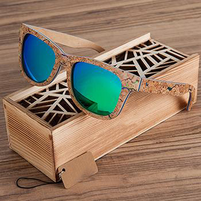 Unique Anti-Reflective, Polarized Wooden Sunglasses Wooden Box