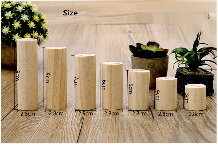 7Pcs Wood Jewelry Display Ring Stand
