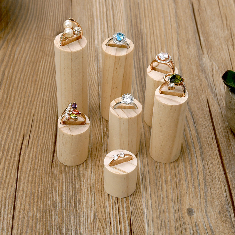 Wood Jewelry Display Ring Display Stand - Lot of 7