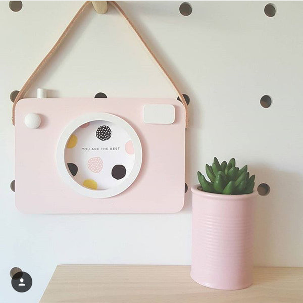 Baby Kids Cute Wood Camera Toys Children Room Wall Decoration Fashion Safe Natural Toys
