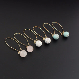 Spherical Beads Long Drop Earrings