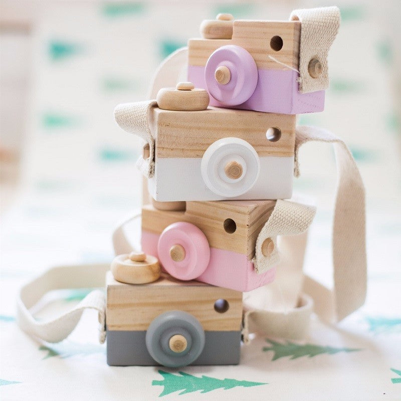 Lovely Cute Wooden Camera Toys For Baby Kids Room Décor