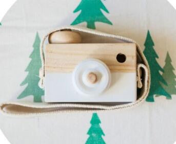 Lovely Cute Wooden Camera Toys For Baby Kids Room Décor European Style Christmas Birthday Gifts