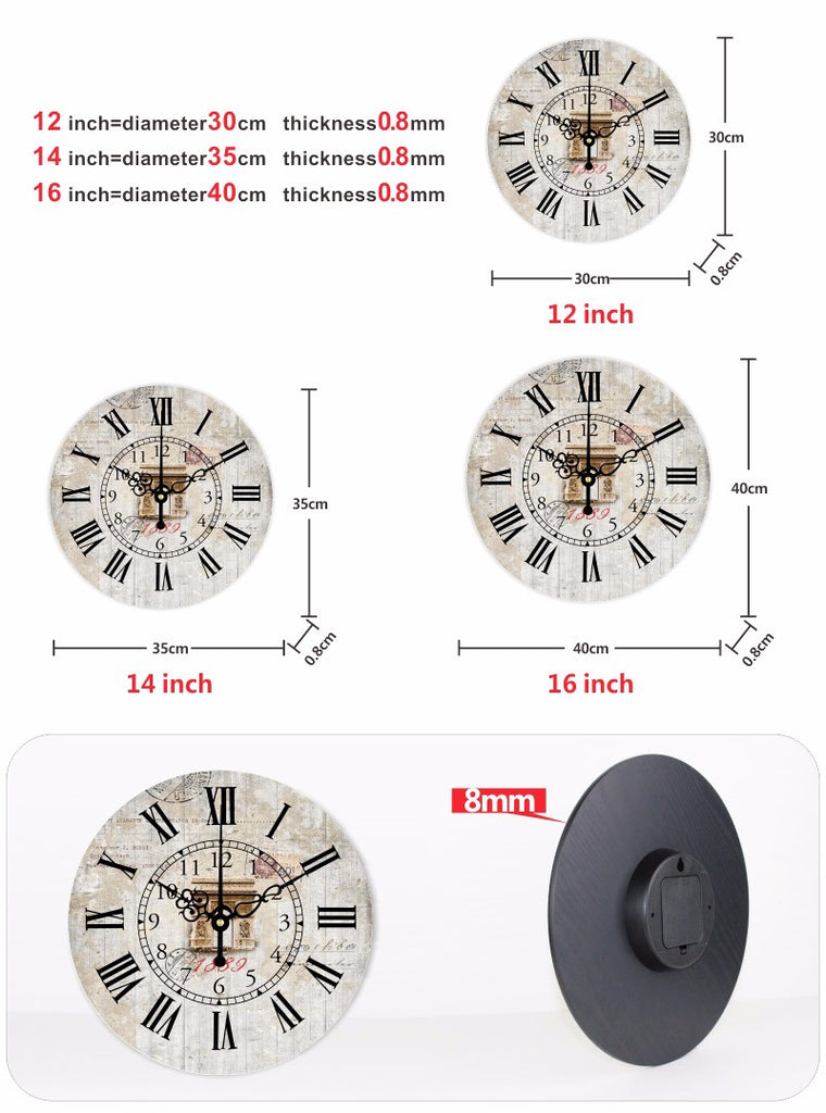 Vintage Home Decor Wall Clock