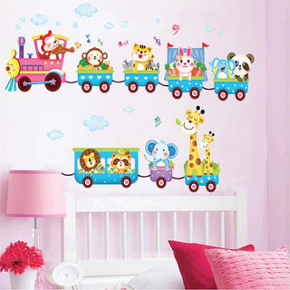 Animals Zoo Train Wall Stickers