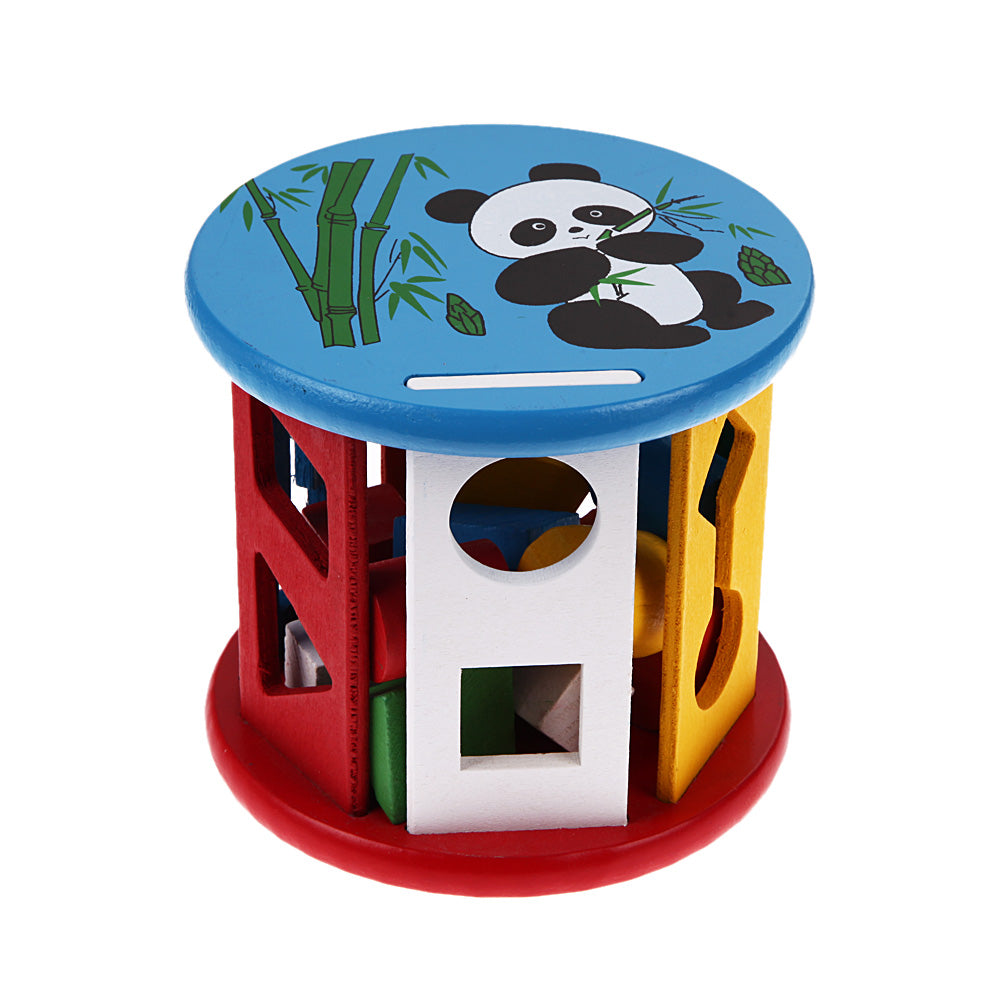 Wooden Toys - Cognitive Shape Sorter and Matching Wooden Building Blocks Baby Kids Children Educational Wood Toys