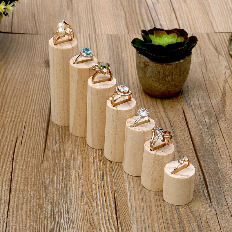 Wooden Jewelry Display Ring Display Stand - Lot of 7