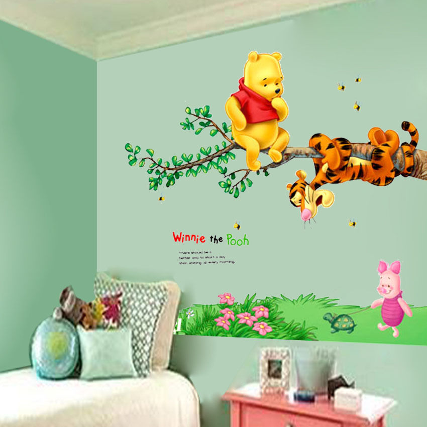 Winnie the Pooh Wall Decal Stickers For Kids Room  sc 1 st  Rare Wooden Gifts & Winnie the Pooh Wall Decal Stickers For Kids Room u2013 RareWoodenGifts.com