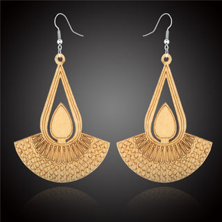 Ethnic Vintage Natural Wooden Earring