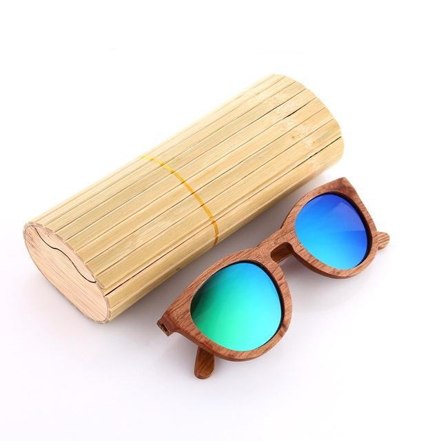 HD Polarized 100% Zebra Wood Framed Sunglasses