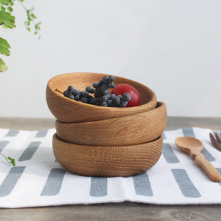 Small Snack Fruit Wood Bowls