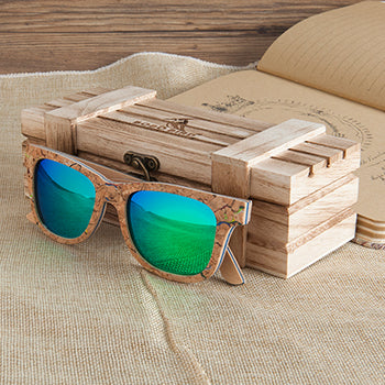 Unique Wood Sunglasses Women Men Luxury Polarized Color Sun Glasses Retro