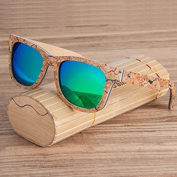 Unique Anti-Reflective, Polarized Wooden Sunglasses Wooden Case