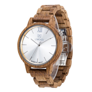 Luxury Oak Wood Waterproof Quartz Watch - Luxury Watch
