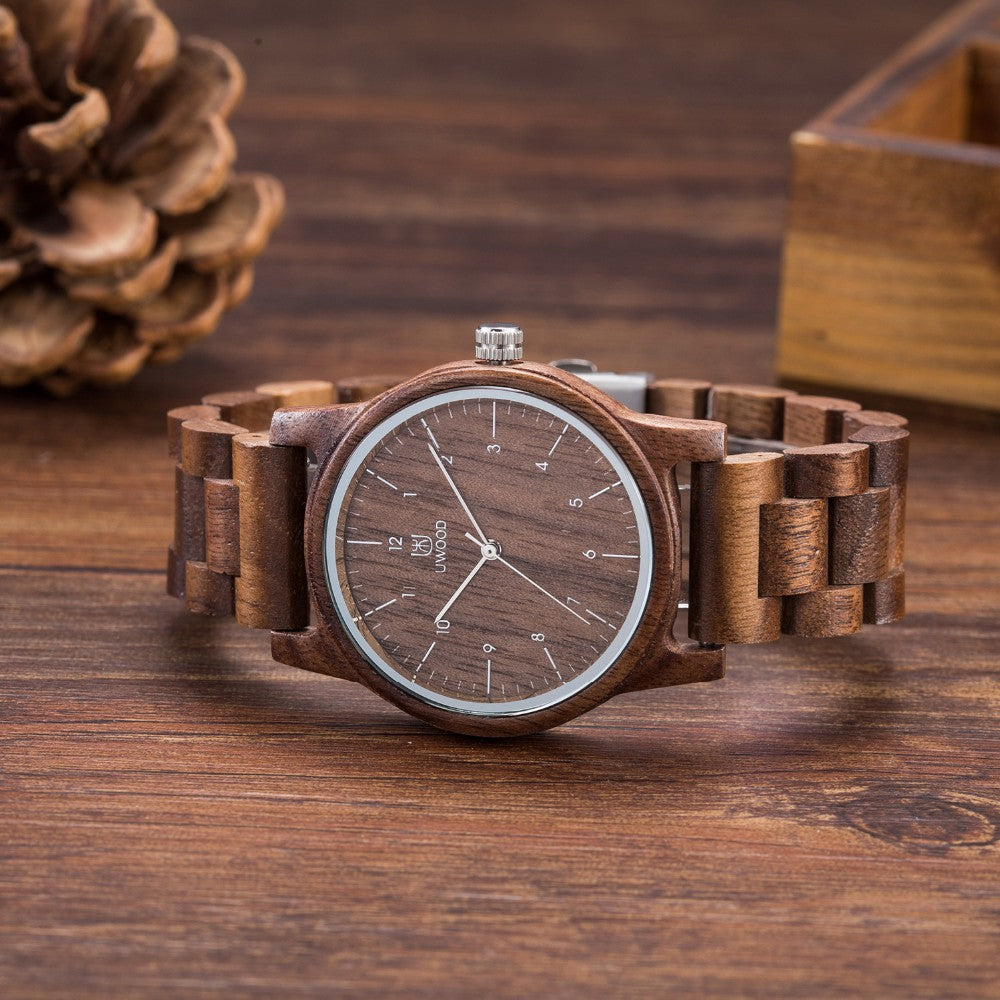 Men's Fashion Natural Wood Watch
