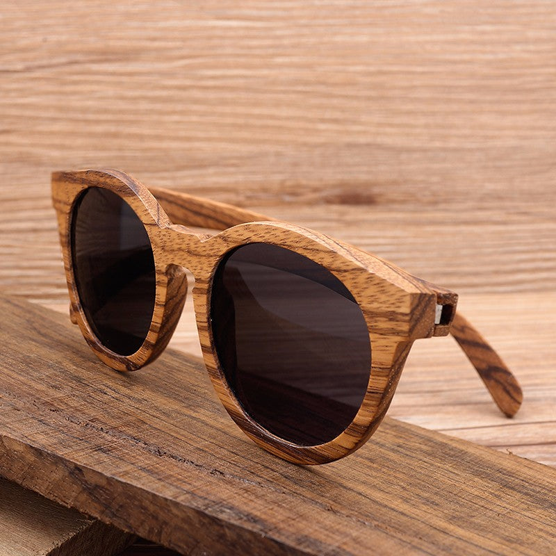 Gift for Her - Vintage Wood Bamboo Polarized Sunglasses