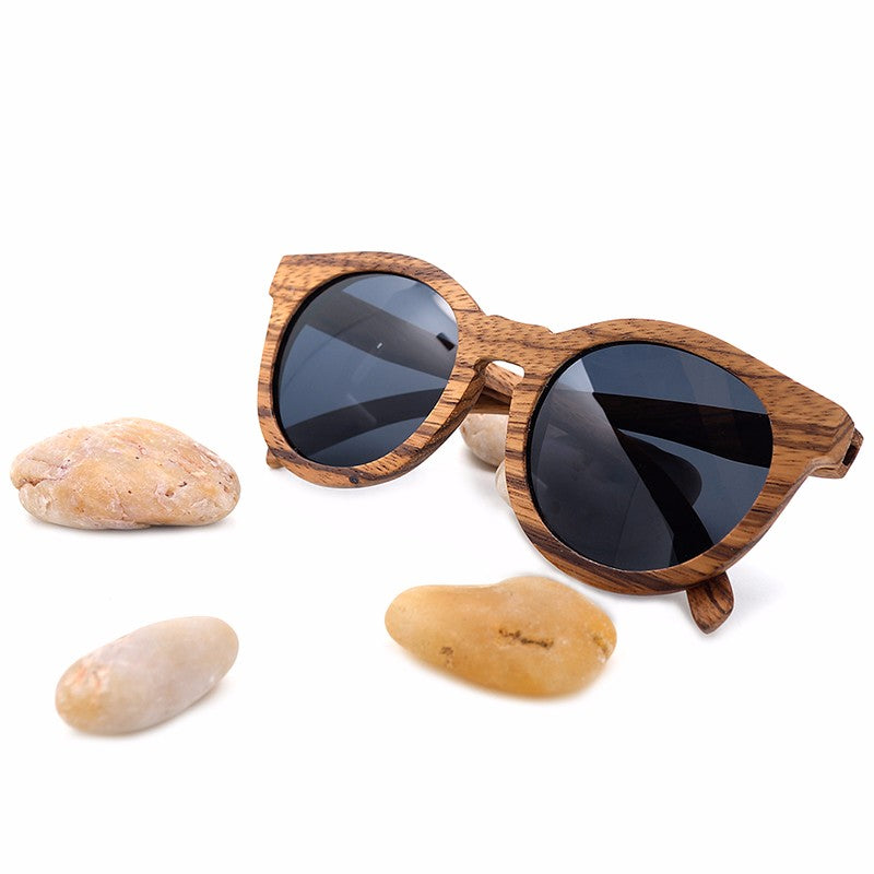 Zebra Wood Bamboo Polarized Sunglasses