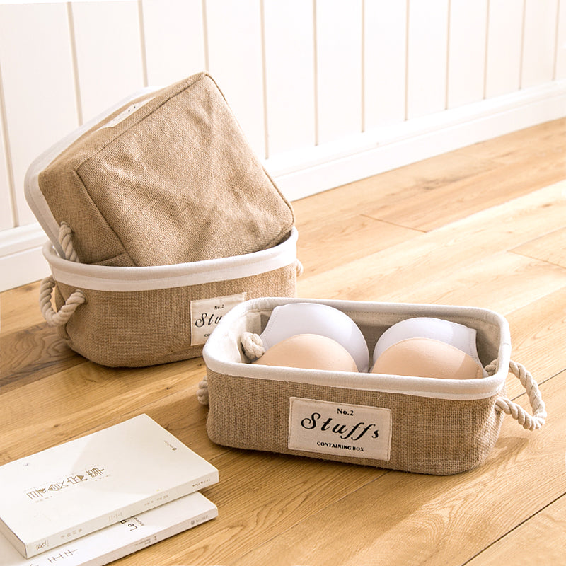 Cotton and Linen Storage Basket - 3 sizes