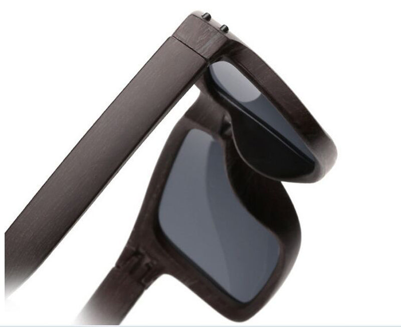 Men's Sports Brownamber Wood Frame Sunglasses