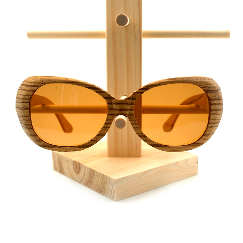 Pilot Bamboo Wooden Sunglasses