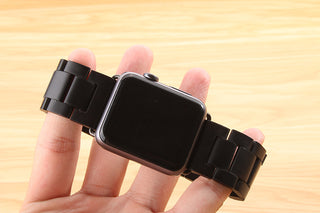 Apple iWatch Black Wooden Band 38mm/42mm
