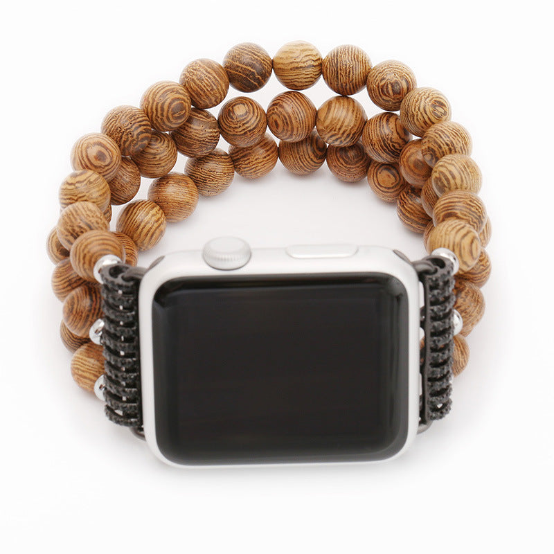 Gift Apple Watch Wooden Bead Wrist Watch Strap
